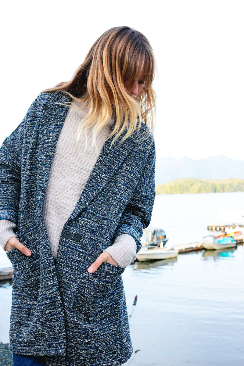 Oversized blazer - Tweed