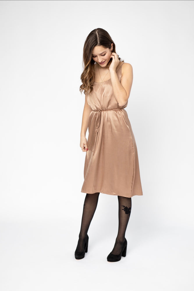 Slip dress  - Champagne Satin