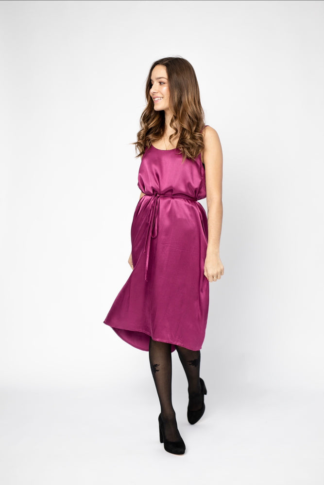 Slip dress  - Fuchsia Satin