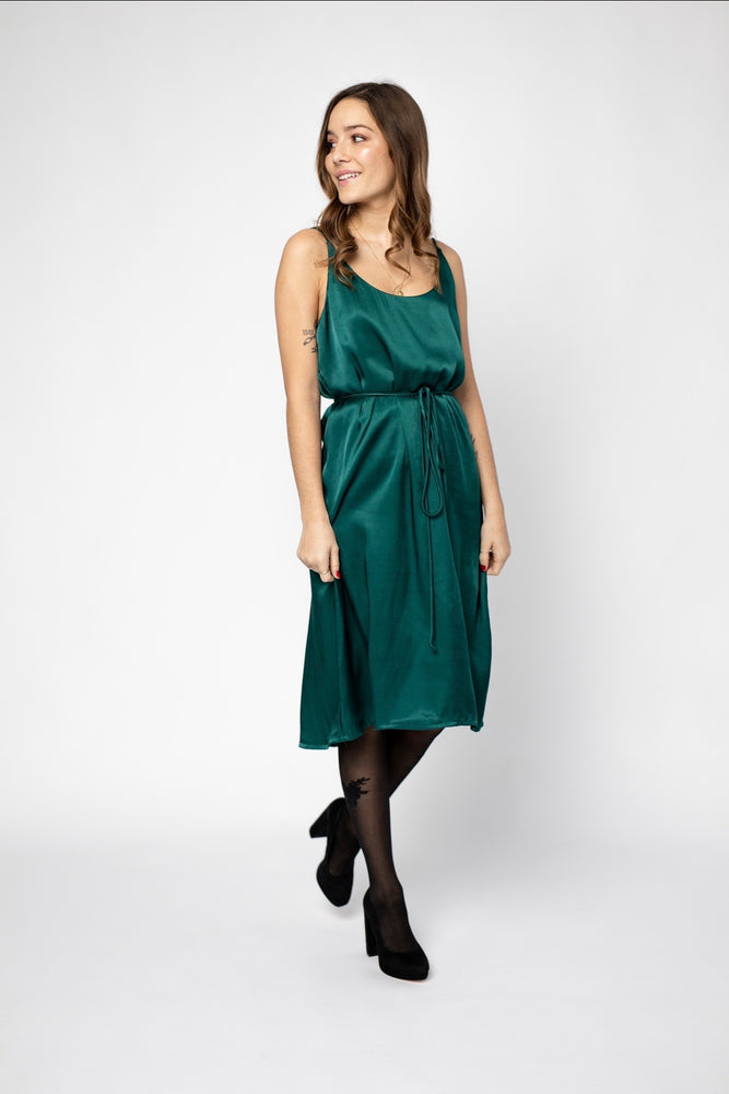 Slip dress  - Emerald Satin