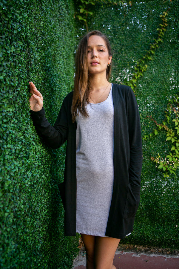 Long Cardigan - Light bamboo