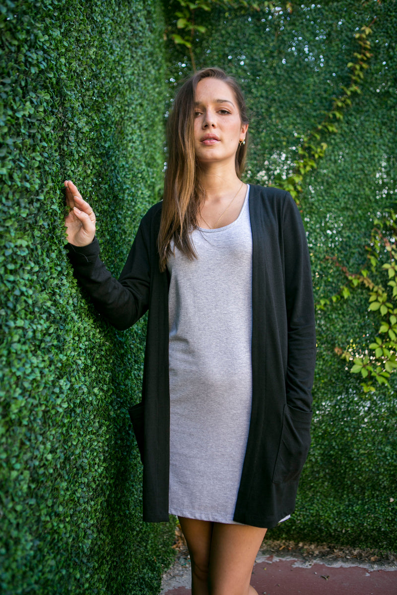 Long Cardigan - Bamboo