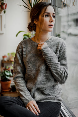 Ethical crew neck knit