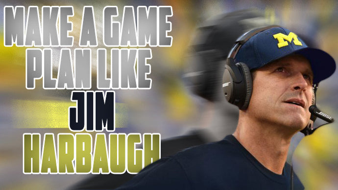 Make a defensive game plan like Jim Harbaugh! It's actually quite easy!!