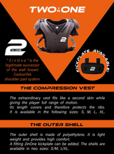 Two In One  Carbontek Shoulder Pad (Polyethylene Shell)