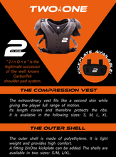 Two In One Shoulder Pad Shell (Polyethylene Shell Only) Carbontek Successor - SportsTakeoff