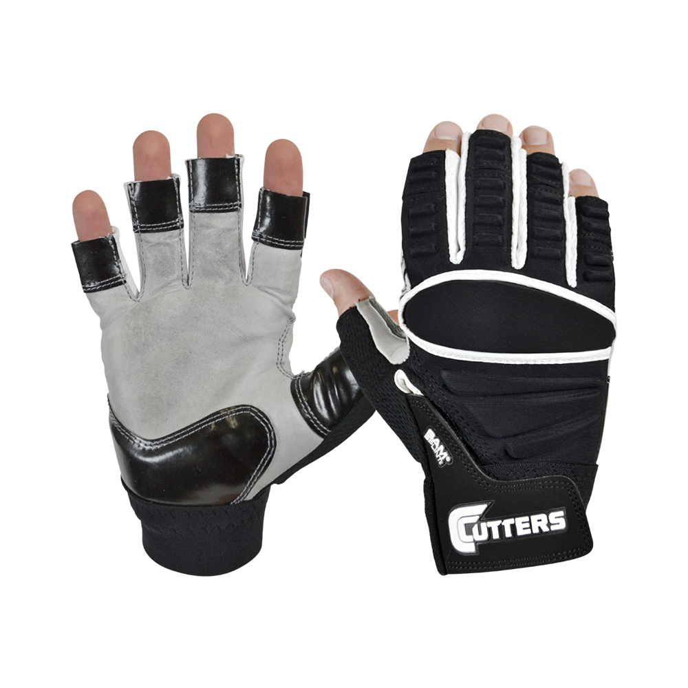 Cutters Half Finger Lineman Gloves (XXL) - SportsTakeoff