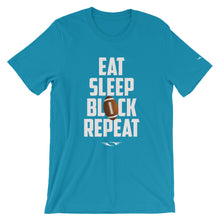 Eat Sleep Block Repeat T-shirt white - SportsTakeoff