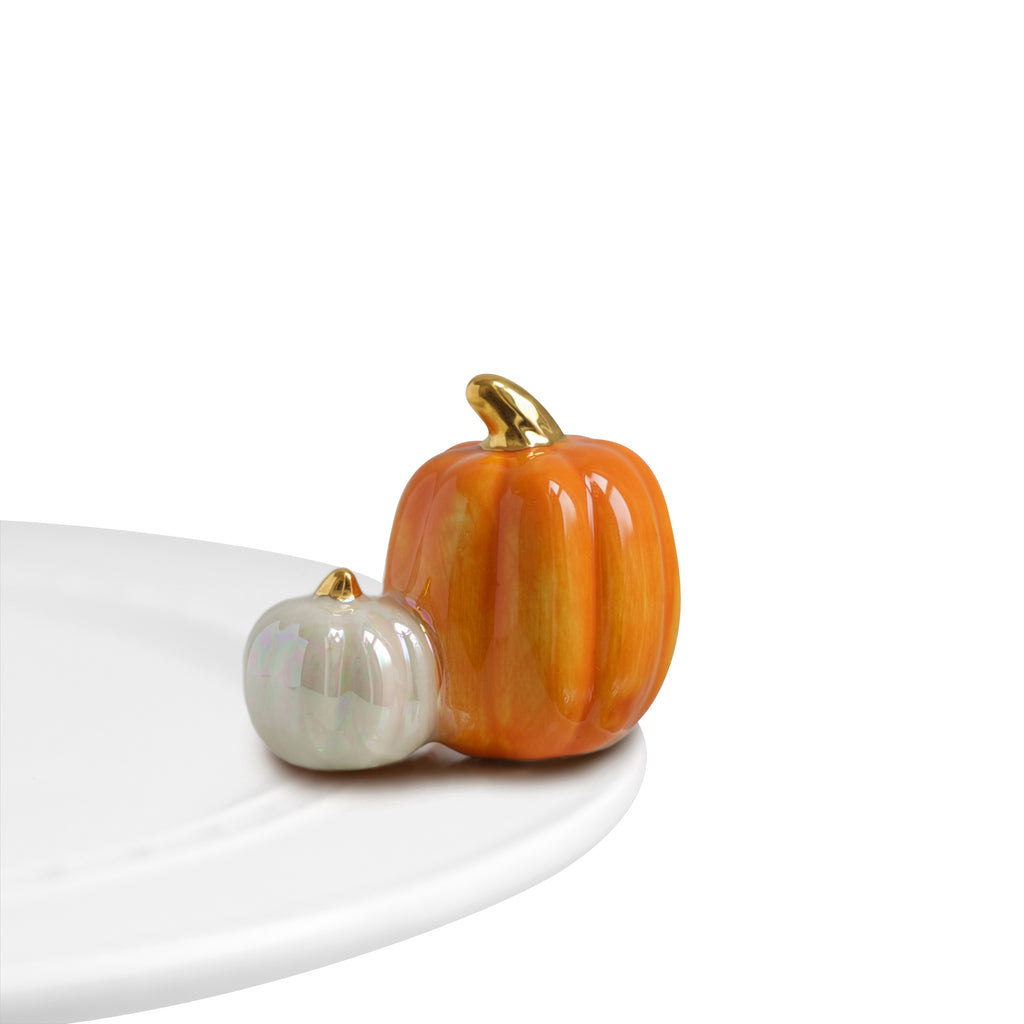 "Nora Fleming ""Nora Fleming Minis"" mini figure ceramic minis gift present pumpkins ""pumpkin spice"" autumn fall pie coffee halloween thanksgiving"