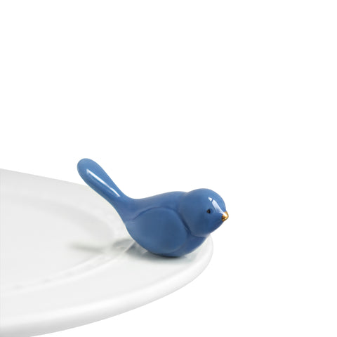 "Nora Fleming ""Nora Fleming Minis"" mini figure ceramic minis gift present bird bluebird blue bird spring springtime animal animals ""bluebird of happiness"""