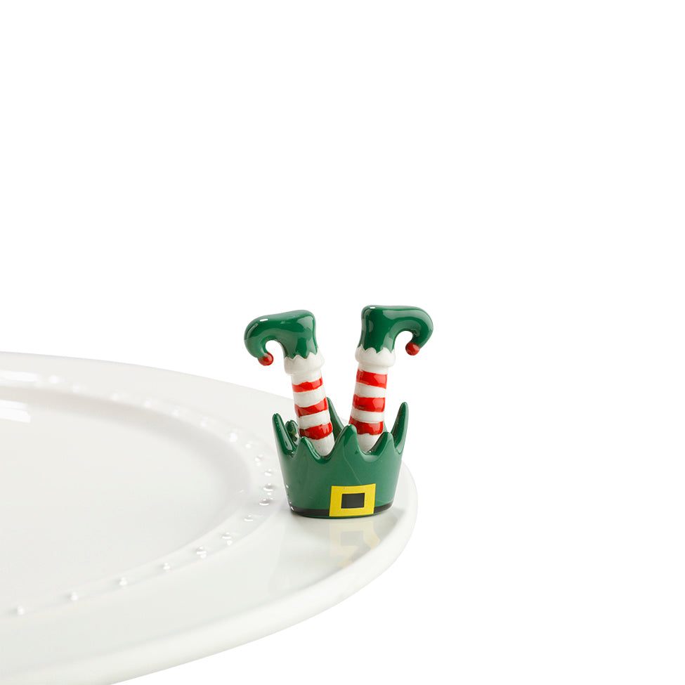 "Nora Fleming ""Nora Fleming Minis"" mini figure ceramic minis gift present christmas winter elf santa santa claus ""jingle toes"""