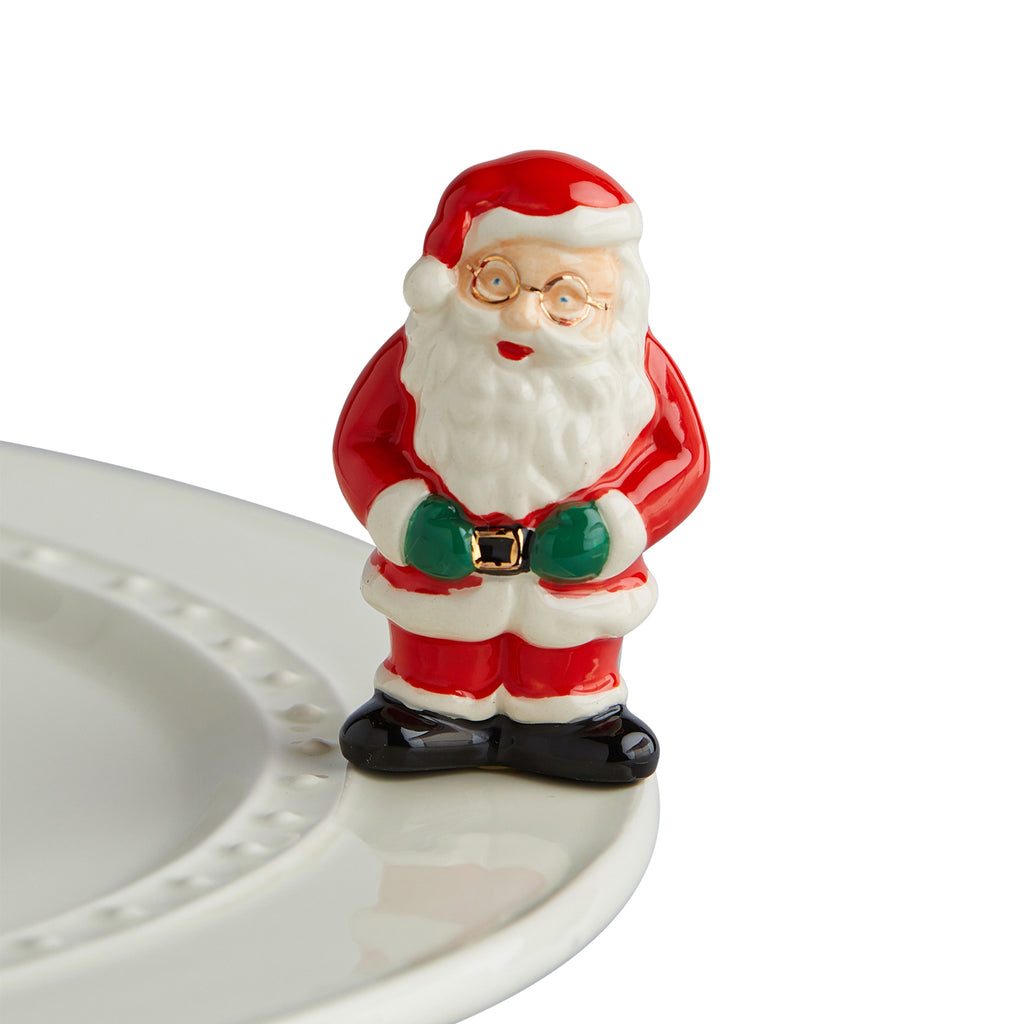 "Nora fleming mini mini figure ceramic minis gift present santa claus ""father christmas"" christmas christmastime festive holidays winter snow"