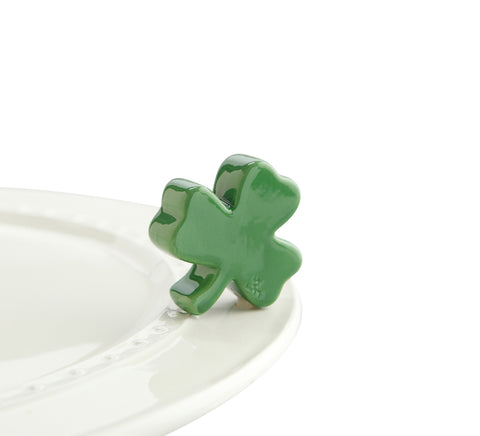 "Nora fleming mini mini figure ceramic minis gift present shamrock ""irish at heart"" clover st. patrick's day saint patricks day green irish"