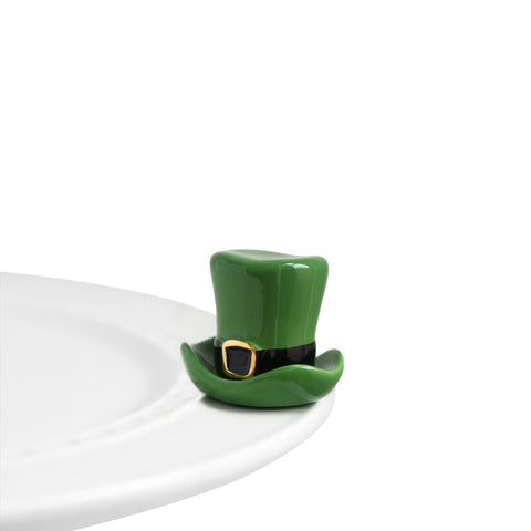 "Nora Fleming ""Nora Fleming Minis"" mini figure ceramic minis gift present ""spot o' irish"" leprechaun hat top hat st. patrick's day stpatricksday gold rainbow good luck"