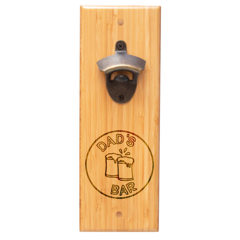 Bamboo Bottle Opener With Magnet