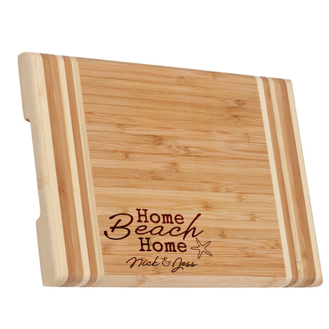 Home Beach Home Medium Bamboo Cutting Board