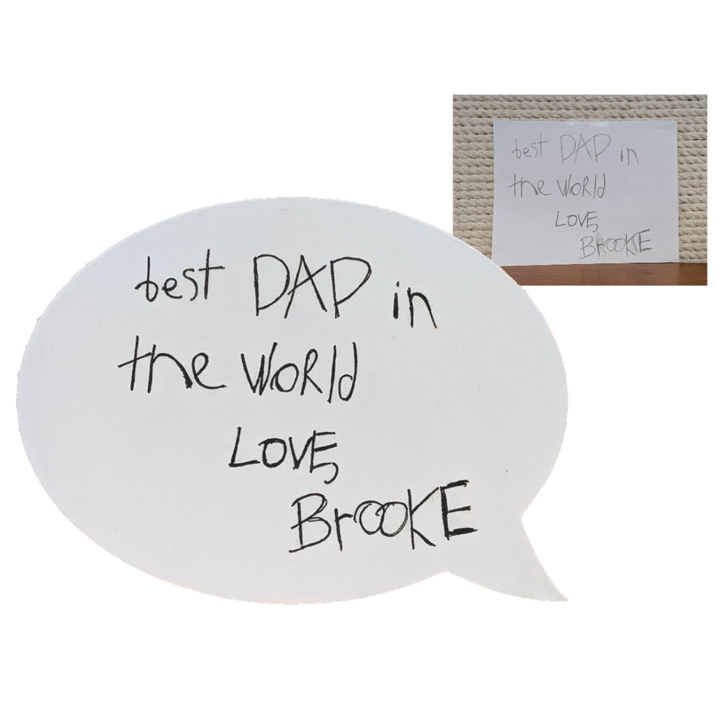 engrave engraving free custom engraving engrave handwritten note handwriting father's day mother's day birthday anniversary
