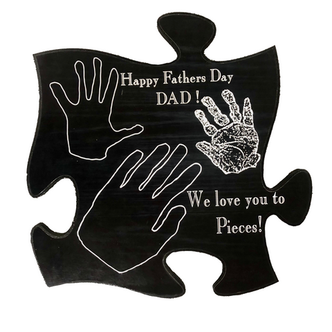 father's day dad daddy day gift present personalized custom engraving laser engraving free personalized engraving plaque handprints memories