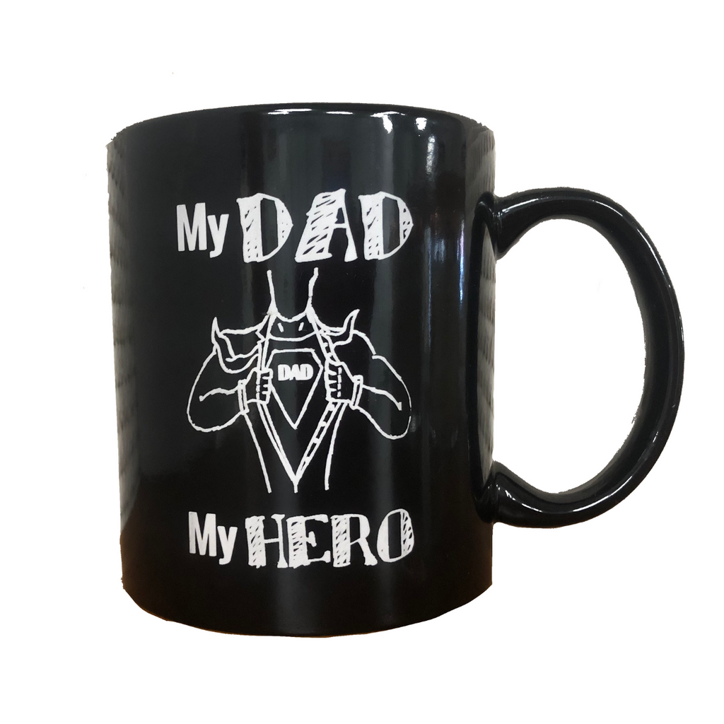 father's day dad daddy day gift present personalized custom engraving laser engraving free personalized engraving mug custom father's day mug superhero