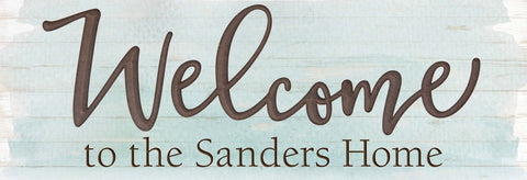Welcome Carved Plaque
