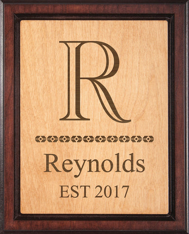 Two-Toned Plaque