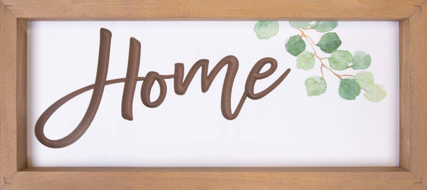 Home Carved Sign