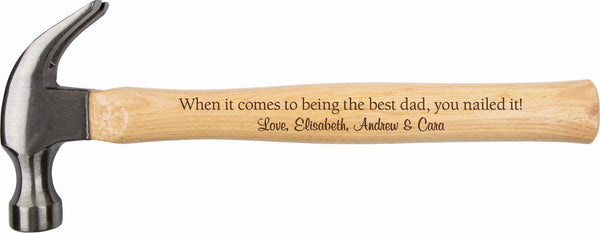 father's day dad daddy day gift present personalized custom engraving laser engraving free personalized engraving hammer tools