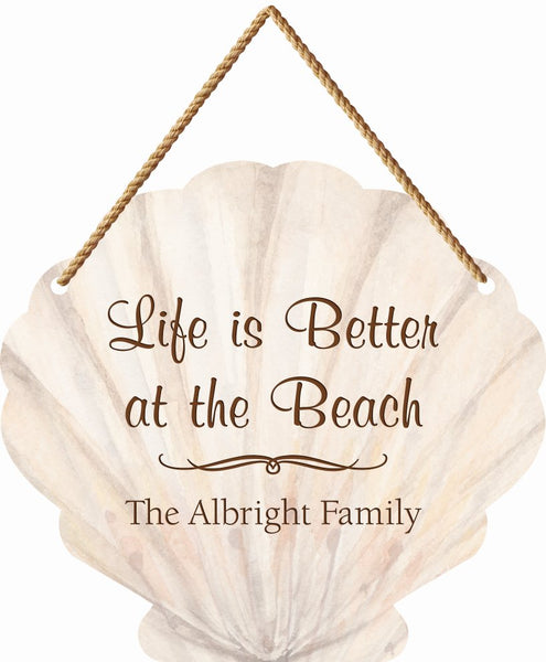 Large Seashell Hanging Sign