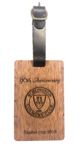 Real Wood Golf Bag Tag