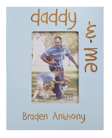 4x6 wooden frame, baby boy, father, grandfather, custom engraving, birthday present