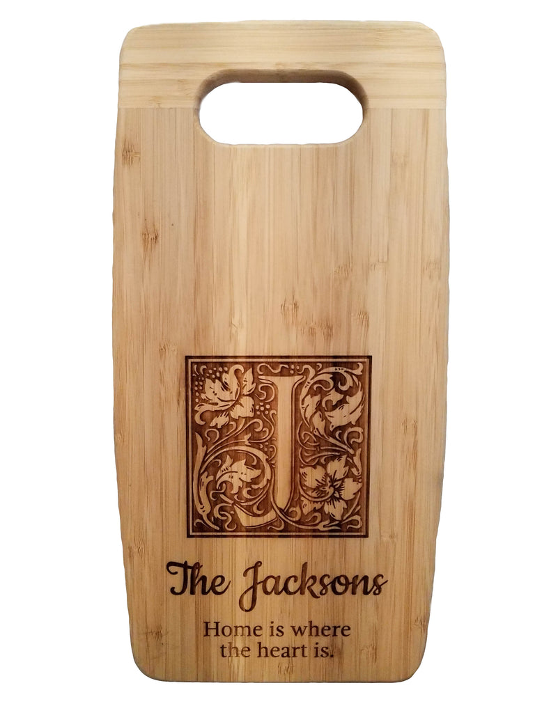 engraved personalized cutting board customizable bamboo  gift present party celebration house gift housewarming kitchen kitchenware