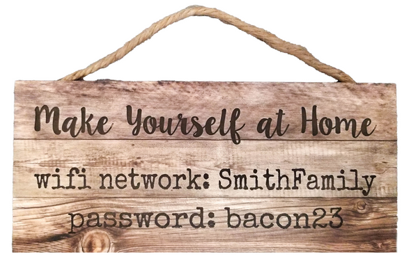Faux Wood Hanging Sign