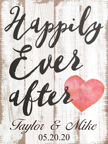 Large Happily Ever After Plaque