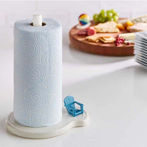 paper towel holder Nora fleming base piece melamine gift present party celebration house gift tailgate housewarming kitchen kitchenware bathroom guest room
