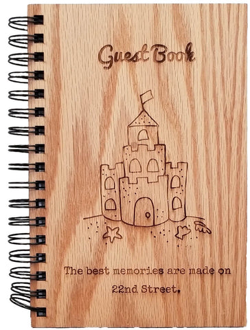 Realtor gift closing gift beach house guest book personal engraving laser engrave