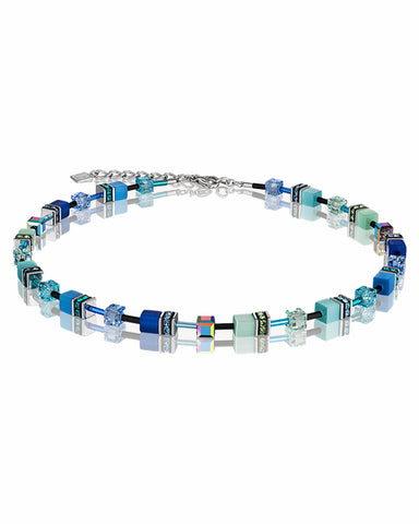 Coeur De Lion GeoCUBE® Necklace Blue-Green