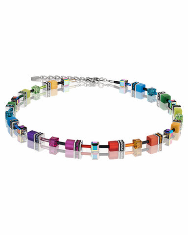 Coeur De Lion GeoCUBE® Necklace Multicolour Rainbow