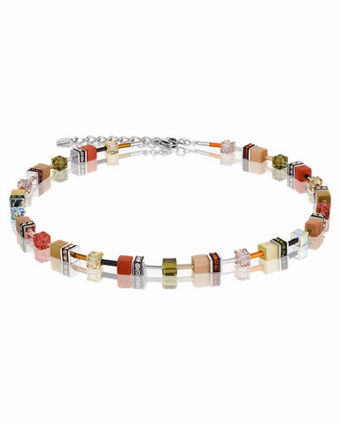 Coeur De Lion GeoCUBE® Necklace Multicolour Leaves