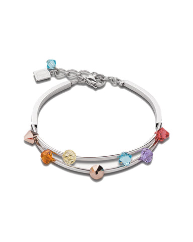 Coeur De Lion Bracelet Multirow Swarovski® Crystals & stainless steel multicolour pastell fine