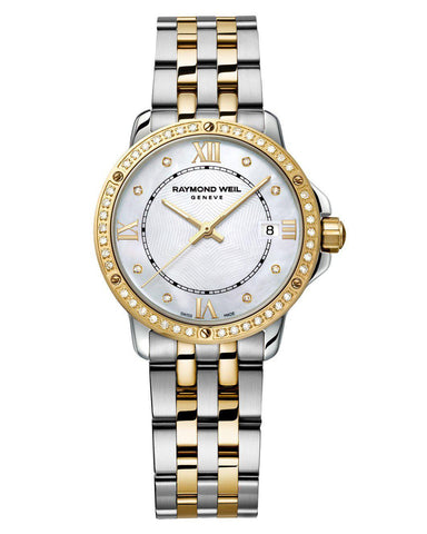 5391-SPS-00995 Raymond Weil Ladies Tango Gold Plated Diamond Set Watch