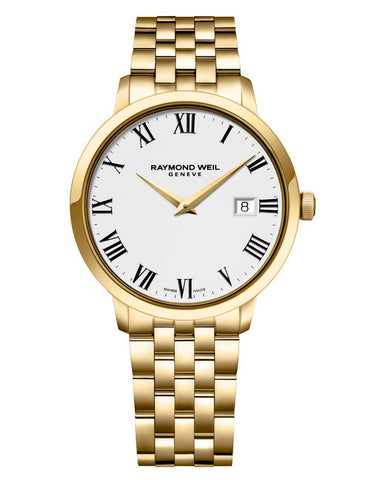 5488-P-00300  Raymond Weil Gents Toccata Gold Plated Watch