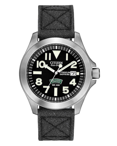 BN0110-06E Citizen Gents Eco Drive Royal Marines Commandos Watch