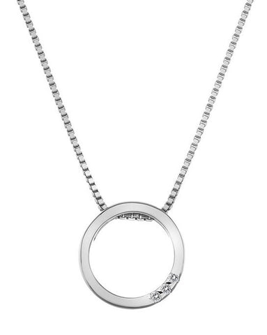 DP571 Hot Diamonds Halo Circle Pendant