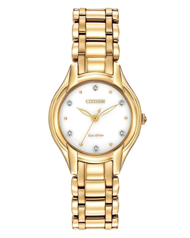 EM0282-56A Citizen Ladies Eco Drive Silhouette Diamond Watch