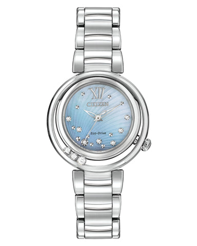 EM0320-59D Citizen Ladies Eco Drive L Sunrise Diamond Watch
