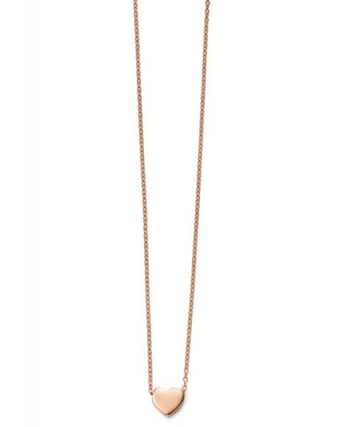 GN235 9ct Rose Gold Heart Necklace