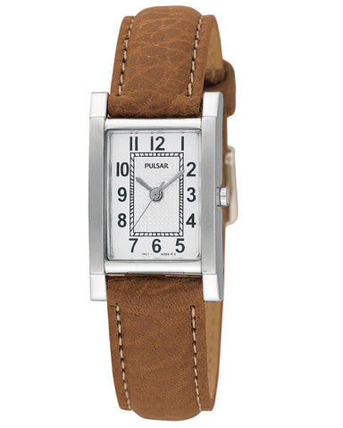 PC3163X1 Pulsar Ladies Classic Brown Strap Watch