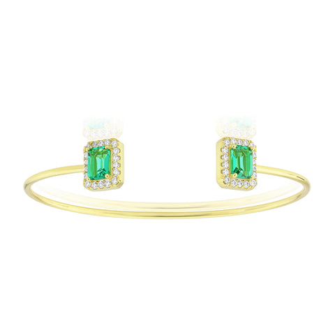 Waterford Synthetic Emerald Bangle