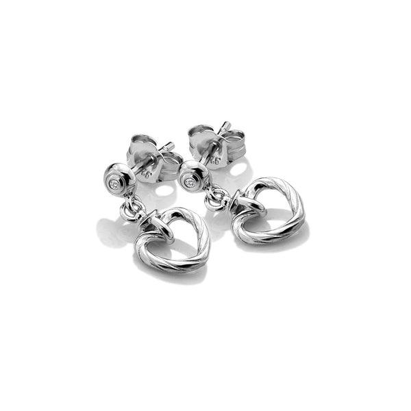 Hot Diamonds Breeze Heart Earrings