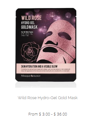 Masqueology Wild Rose Hydro Gel Gold Mask